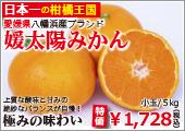 媛太陽みかん(小玉・優品)5kg