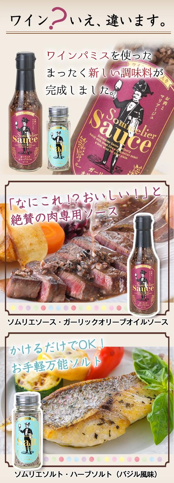 <47CLUB> おしゃれ調味料!【ソムリエSalt&Sauce】ワインパミス入り人気の2本セット画像