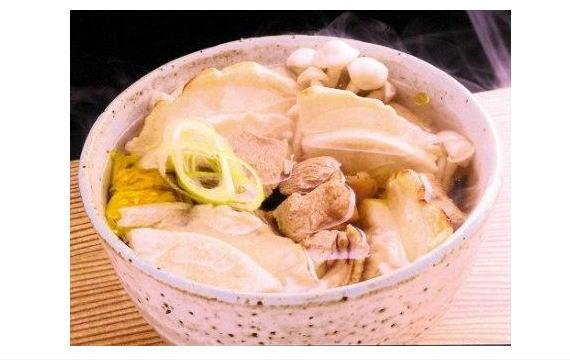 <47CLUB> 産地工場直送のご当地グルメ! 八戸せんべい汁 青森地鶏シャモロック肉入り!画像