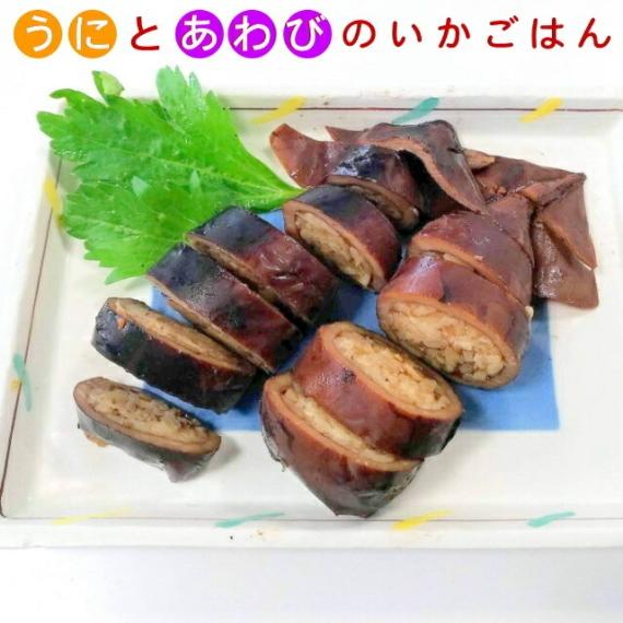 <47CLUB> いちご煮ご飯が入った長者様のいかごはん(いかめし)小2尾画像