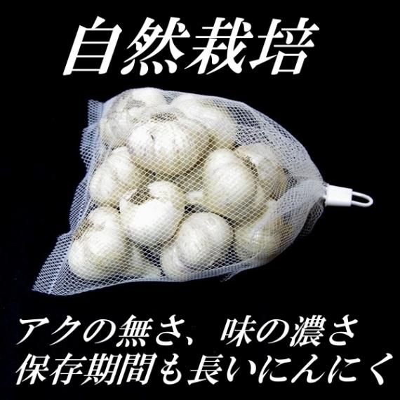 <47CLUB> 「奇跡のりんご」の木村秋則さんが推奨する話題の農薬・肥料不使用(転換中)、自然栽培にんにく【期間限定】量り売り400g 白にんにく画像
