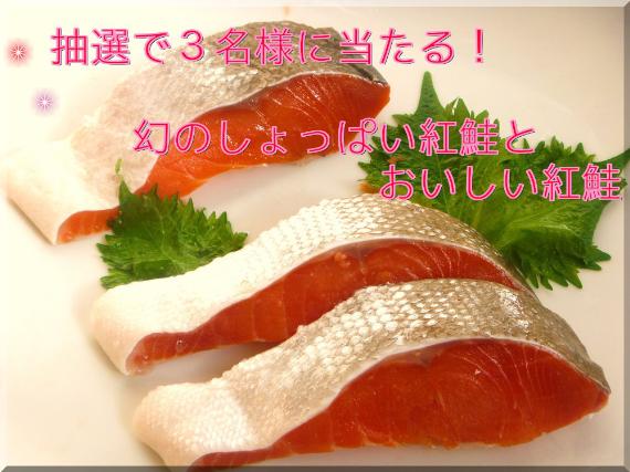 <47CLUB> プレゼントキャンペーン抽選で3名様に当たる【幻のしょっぱい紅鮭・雪鮭漬】と【おいしい甘塩紅鮭】画像