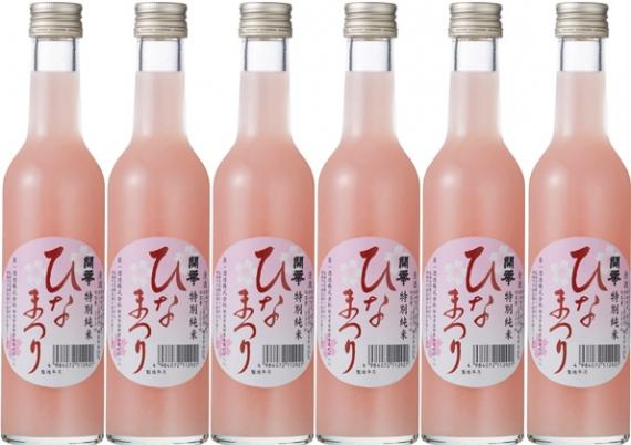 桃色にごり酒「開華 ひなまつり300ml」(日本酒 純米酒 低…
