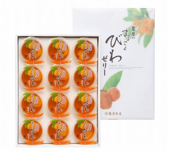 <47CLUB> まるごとびわゼリー12個入り【お中元2018】【スイーツ・洋菓子】画像