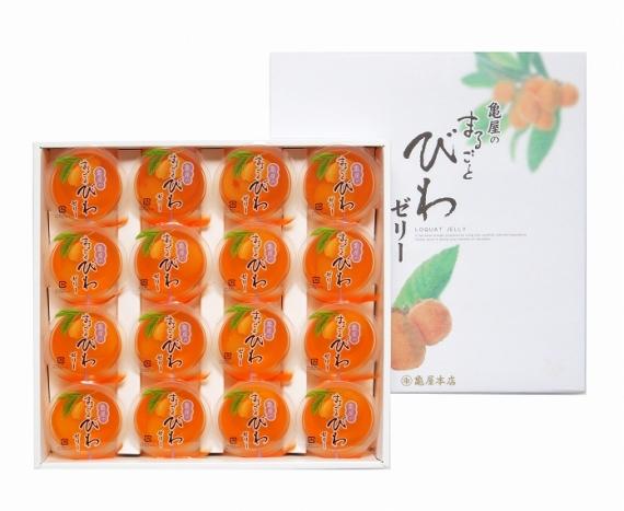 <47CLUB> まるごとびわゼリー16個入り【お中元2018】【スイーツ・洋菓子】画像