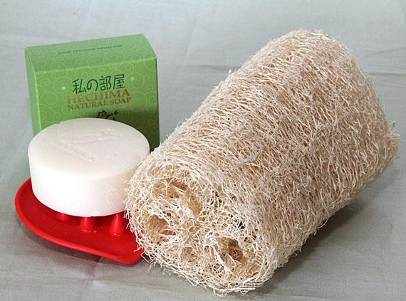 <47CLUB> 【生活快適シリーズ】<お風呂グッズ>天然ヘチマL(ボディ洗い用)1本画像