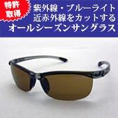 眼鏡の街<福井県鯖江市>で生まれた「オールシーズンサングラス」【101:クリアグレー×ブラウン】