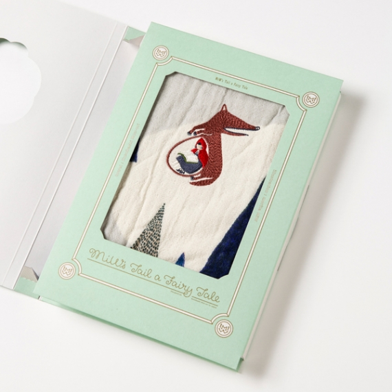 <47CLUB> 【MiW style】ブックギフト赤ずきん<ウォッシュタオル>紺【パッケージ付き】【生活用品・工芸品】画像