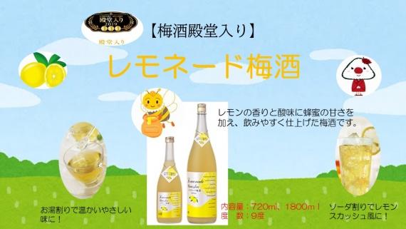 <47CLUB> 『レモネード梅酒』 720ml9度 酸味と甘みのコラボが絶妙でとてもおいしい梅酒です。 【お中元2018】【ドリンク】画像
