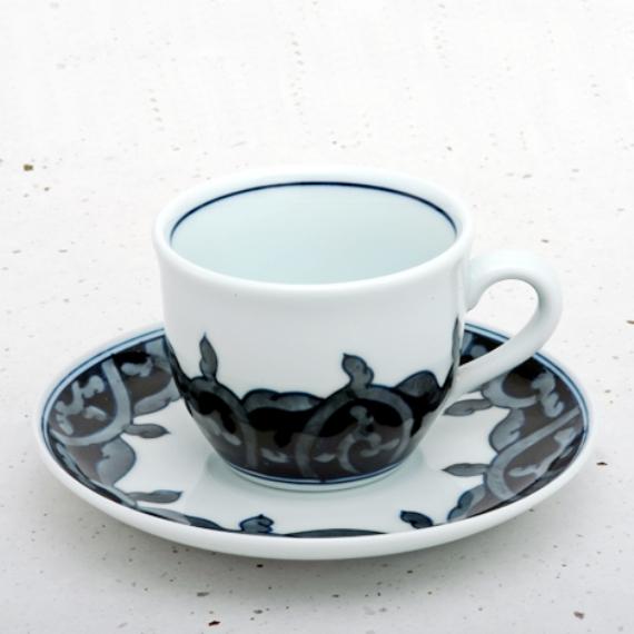 <47CLUB>  伊万里焼 藍鍋島 コーヒー碗皿<藍唐草>画像