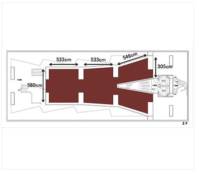 GUNKAN アトリエ2階 (ID:10048) 図面