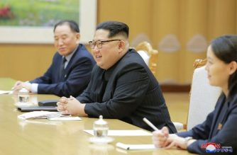 "This picture taken on March 5, 2018 and released from North Korea's official Korean Central News Agency (KCNA) on March 6, 2018 shows North Korean leader Kim Jong-Un (C) meeting with South Korean delegation, who travelled as envoys of the South's President Moon Jae-in, in Pyongyang.    North Korean leader Kim Jong Un discussed ways to ease tensions on the peninsula with visiting South Korean envoys, the state KCNA news agency reported on March 6. / AFP PHOTO / KCNA VIA KNS / STR / / AFP PHOTO / KCNA VIA KNS / STR / SOUTH KOREA OUT / REPUBLIC OF KOREA OUT   ---EDITORS NOTE--- RESTRICTED TO EDITORIAL USE - MANDATORY CREDIT ""AFP PHOTO/KCNA VIA KNS"" - NO MARKETING NO ADVERTISING CAMPAIGNS - DISTRIBUTED AS A SERVICE TO CLIENTS"