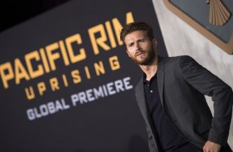 "(FILES) In this file photo taken on March 21, 2018 actor Scott Eastwood attends The Universal Premiere ""Pacific Rim: Uprising at the Chinese Theater in Hollywood, California. Smash-'em up blockbuster ""Pacific Rim: Uprising"" sent shockwaves through the North American box office this weekend, claiming the top spot with takings of $28 million, industry estimates showed on March 25, 2018. The action-packed sequel knocked ""Black Panther"" from number one after five straight weeks, according to industry tracker Exhibitor Relations, but the film attracted mixed reviews and fell short of ""Pacific Rim's"" $37.3 million debut in 2013.  / AFP PHOTO / VALERIE MACON"