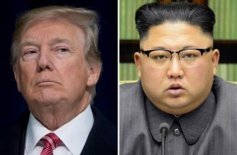 "(FILES) This combination of file photos created on March 9, 2018 shows US President Donald Trump speaking during a retreat with Republican lawmakers at Camp David in Thurmont, Maryland on January 6, 2018 (L) and North Korean leader Kim Jong-Un delivering a statement in Pyongyang in a photo taken on September 21, 2017 and released by North Korea's official Korean Central News Agency (KCNA) on September 22, 2017. US President Donald Trump agreed on March 8, 2018 to a historic first meeting with North Korean leader Kim Jong Un in a stunning development in America's high-stakes nuclear standoff with North Korea. / AFP PHOTO / KCNA VIA KNS AND AFP PHOTO / - AND Saul LOEB / South Korea OUT / REPUBLIC OF KOREA OUT   ---EDITORS NOTE--- RESTRICTED TO EDITORIAL USE - MANDATORY CREDIT ""AFP PHOTO/KCNA VIA KNS"" - NO MARKETING NO ADVERTISING CAMPAIGNS - DISTRIBUTED AS A SERVICE TO CLIENTS THIS PICTURE WAS MADE AVAILABLE BY A THIRD PARTY. AFP CAN NOT INDEPENDENTLY VERIFY THE AUTHENTICITY, LOCATION, DATE AND CONTENT OF THIS IMAGE. THIS PHOTO IS DISTRIBUTED EXACTLY AS RECEIVED BY AFP.  /"