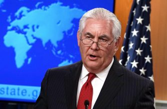 WASHINGTON, DC - MARCH 13: Outgoing U.S. Secretary of State Rex Tillerson makes a statement on his departure from the State Department March 13, 2018 at the State Department in Washington, DC. President Donald Trump has nominated CIA Director Mike Pompeo to replace Tillerson to be the next Secretary of State.   Alex Wong/Getty Images/AFP