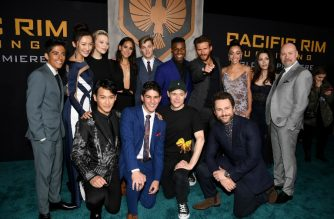 "HOLLYWOOD, CA - MARCH 21: The cast and crew attend Universal's ""Pacific Rim Uprising"" premiere at TCL Chinese Theatre IMAX on March 21, 2018 in Hollywood, California.   Kevin Winter/Getty Images/AFP"