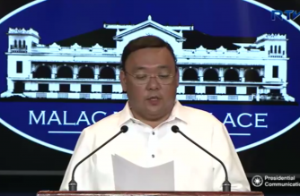 Presidential Spokesperson Atty. Harry Roque holds a press briefing for the Malacañang Press Corps (MPC) at the New Executive Building in Malacañang on March 5, 2018.