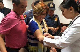 Senator Leila de Lima undergoes medical check-up at the Philippine Heart Center in Quezon City on Monday, March 12, 2018.