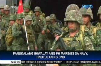 DND Chief opposes separation of PHL Marines from Navy