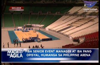 FIBA World 3×3 officials, nag-inspeksyon sa Philippine Arena