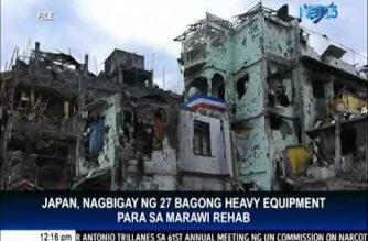 Japan donates 27 new heavy equipment for Marawi rehabilitation