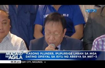 Malacanang eyes new plunder cases vs former Aquino gov't officials liable for MRT-3 mess