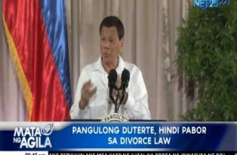 Palace: President Duterte is against divorce