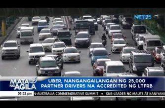 Uber, nangangailangan ng 25,000 partner drivers na accredited ng LTFRB