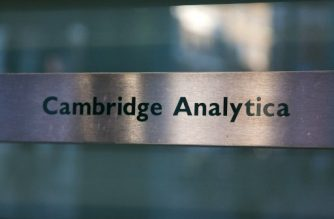 (File photo) A Cambridge Analytica sign is pictured at the entrance of the building which houses the offices of Cambridge Analytica, in central London on March 21, 2018. Facebook expressed outrage over the misuse of its data as Cambridge Analytica, the British firm at the centre of a major scandal rocking the social media giant, suspended its chief executive.  / AFP PHOTO / Daniel LEAL-OLIVAS
