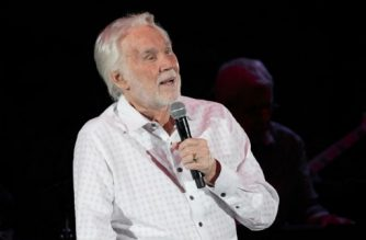 """(FILES) In this file photo taken on March 18, 2017, Kenny Rogers performs live in concert on his 'Farewell Tour' during Rodeo Austin at the Travis County Expo Center in Austin, Texas. Country legend Kenny Rogers on March 4, 2018 scrapped the final dates on what he has billed as a farewell tour, citing unspecified health concerns. The 79-year-old singer, best known for the hits """"Lady"""" and """"The Gambler,"""" has been """"working through a series of health challenges,"""" his management said in a statement. / AFP PHOTO / SUZANNE CORDEIRO"""