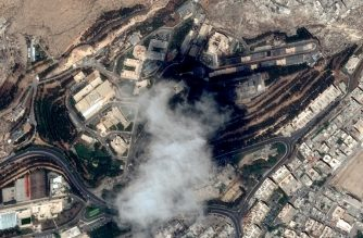 """This handout satellite image taken on April 11, 2018 and provided on April 15, 2018 by Distribution Airbus DS, shows the Scientific Studies and Research Centre (SSRC) compound in the Barzeh district, north of Damascus, before the raids by the United States, Britain and France. US, French and British missiles destroyed sites suspected of hosting chemical weapons development and storage facilities on April 14, but the buildings were mostly empty and the Western trio swiftly reverted to its diplomatic efforts.  / AFP PHOTO / Cnes 2017, Distribution Airbus DS / Handout / RESTRICTED TO EDITORIAL USE - MANDATORY CREDIT """"AFP PHOTO /  CNES / Distribution Airbus DS"""" - NO MARKETING NO ADVERTISING CAMPAIGNS - DISTRIBUTED AS A SERVICE TO CLIENTS"""