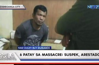 6 na miyembro ng pamilya patay sa massacre sa Zamboanga del Norte; suspek, arestado
