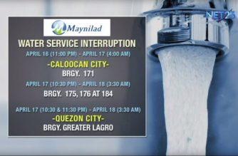 Ilang lugar sa Caloocan City at Quezon City, mawawalan ng tubig