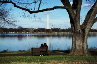 View of Washington Memorial from across the Potomac River. Photo by Lowell Nucum, Eagle News Service.)