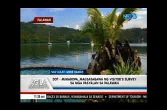 DOT-Mimaropa, kasalukuyang nagsasagawa ng visitor survey sa mga pasyalan sa Palawan