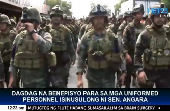 Sen. Angara pushes additional benefits for uniformed personnel