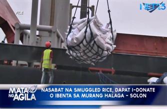 Nasabat na smuggled rice, dapat i-donate o ibenta sa murang halaga – Solon
