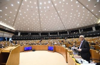 """(File photo) European Commission President Jean-Claude Juncker presents the EU's next long-term budget in the European Parliament in Brussels, on May 2, 2018. European Commission chief Jean-Claude Juncker unveiled """"reasonable and responsible"""" plans on May 2 for a bigger post-Brexit budget worth 1.279 trillion euros covering 2021-2027. """"Our proposals lead to an overall amount of 1.279 trillion euros,"""" Juncker told the European Parliament, adding that it was equivalent to 1.1 percent of the European Union's economic output.  / AFP PHOTO / Emmanuel DUNAND"""