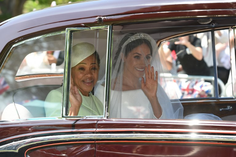 In photos:  Meghan Markle and her mother on their way to the wedding
