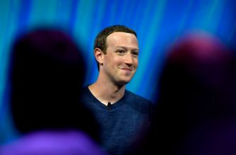 Facebook's CEO Mark Zuckerberg smiles during his speech during the VivaTech (Viva Technology) trade fair in Paris, on May 24, 2018.  / AFP PHOTO / POOL / GERARD JULIEN
