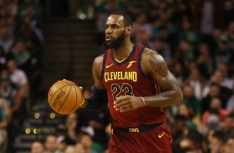 BOSTON, MA - MAY 15: LeBron James #23 of the Cleveland Cavaliers handles the ball during the first half against the Boston Celtics during Game Two of the 2018 NBA Eastern Conference Finals at TD Garden on May 15, 2018 in Boston, Massachusetts. NOTE TO USER: User expressly acknowledges and agrees that, by downloading and or using this photograph, User is consenting to the terms and conditions of the Getty Images License Agreement.   Maddie Meyer/Getty Images/AFP