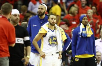 HOUSTON, TX - MAY 16: Stephen Curry #30 of the Golden State Warriors reacts after they were defeated 127 to 105 by the Houston Rockets in Game Two of the Western Conference Finals of the 2018 NBA Playoffs at Toyota Center on May 16, 2018 in Houston, Texas.   Ronald Martinez/Getty Images/AFP