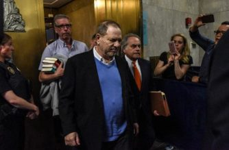 NEW YORK, NY - MAY 25: Harvey Weinstein exits the court room with his lawyer (R) Benjamin Brafman after his arraignment at Manhattan Criminal Court on May 25, 2018 in New York City. The former movie producer faces charges in connection with accusations made by aspiring actress Lucia Evans who has said that Weinstein forced her to perform oral sex on him in his Manhattan office in 2004. Weinstein (66) has been accused by dozens of other women of forcing them into sexual acts using both pressure and threats. The revelations of the his behavior helped to spawn the global #MeToo movement.  Stephanie Keith/Getty Images/AFP