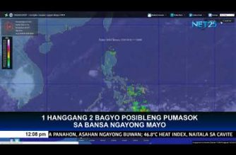2 tropical cyclones may enter the Philippine Area of Responsibility this May