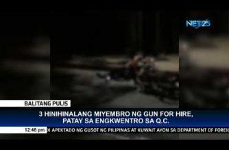 3 hinihinalang miyembro ng gun-for-hire, patay sa engkuwentro sa Quezon City