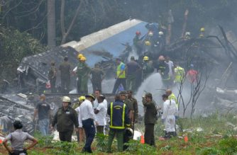 Many are reportedly feared dead after an airliner crashed upon takeoff from an airport in Havana on Friday, May 18./Adalberto Roque/AFP
