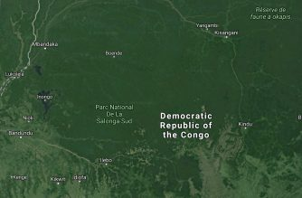 DR Congo map (courtesy Google maps)