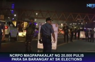 NCRPO to deploy around 20,000 policemen to secure barangay, SK elections