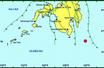 A 5.0-magnitude earthquake struck Davao Occidental on Friday, May 11. This was followed by a 4.7-magnitude one seconds later./PHIVOLCS/