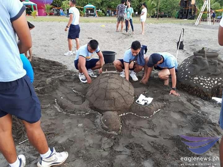 LOOK: Sand art in Tandag City, Surigao del Sur